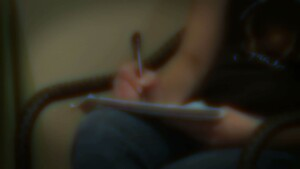 Still of Automatic Writing closeup